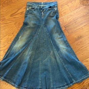 7 for All of mankind Full Length Skirt